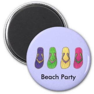 Beach Sandals 2 Inch Round Magnet