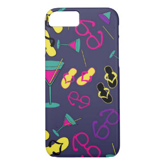 Beach Sandals and Cocktail Drinks Cell Phone Cases
