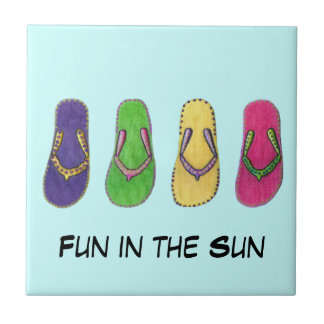 Beach Sandals Ceramic Tile