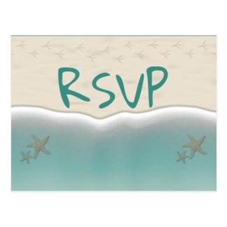 Beach Sandy Shore Starfish RSVP Postcards