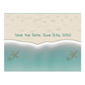 Beach Sandy Shore Starfish Save the Date Postcards