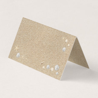 Beach Sandy Toes Salty Kisses Folded Place Cards