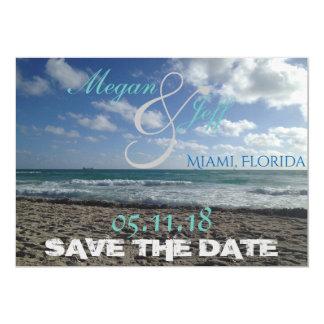 "Beach Save the Date 5"" X 7"" Invitation Card"