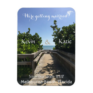 Beach Save the Date Magnet