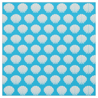 Beach Scallop Shells Pattern Fabric