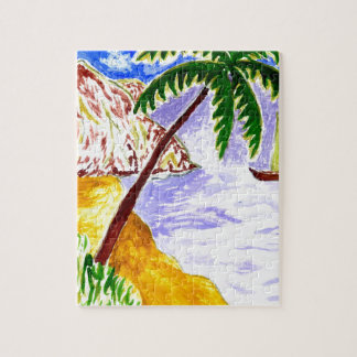 Beach Scene Art3 Puzzles