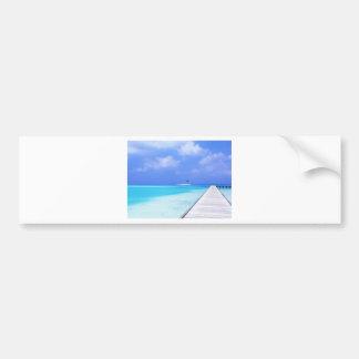 BEACH SCENE BUMPER STICKERS