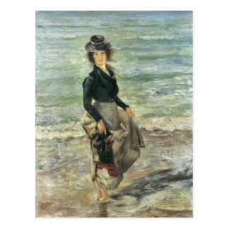 Beach scene by Lovis Corinth Postcard