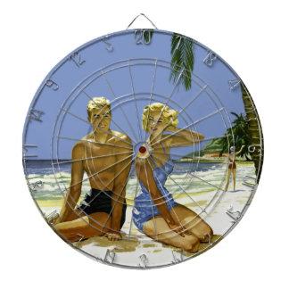 Beach scene dartboard