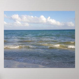 Beach Scene in Tulum, Mexico Poster