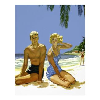 Beach scene letterhead