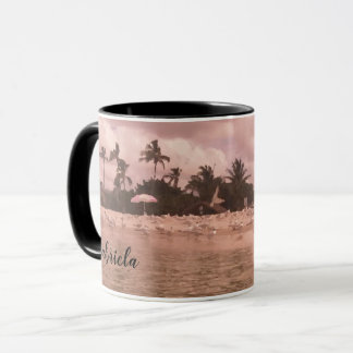 Beach Scene Painting Personalized Coffee Mug