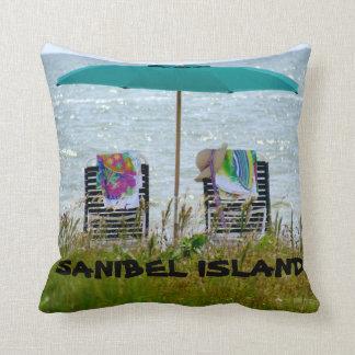 Beach scene pillow