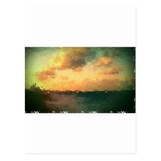 beach scene postcard