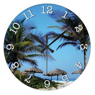 Beach Scene Round Wall Clock