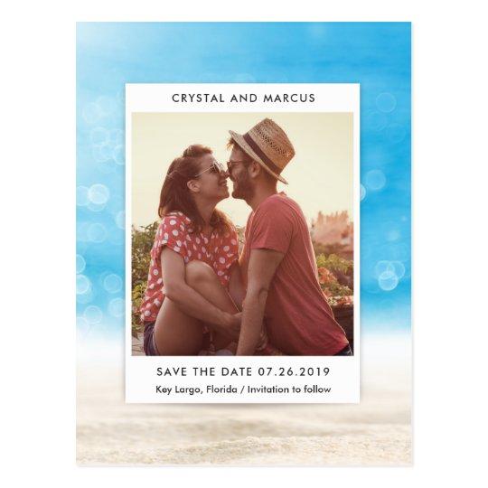 Beach Scene Save the Date Card