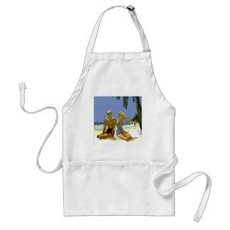 Beach scene standard apron