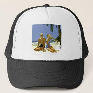 Beach scene trucker hat