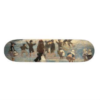 Beach Scene - Winslow Homer Custom Skateboard
