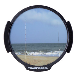 Beach Scene With Fishing Poles LED Car Decal