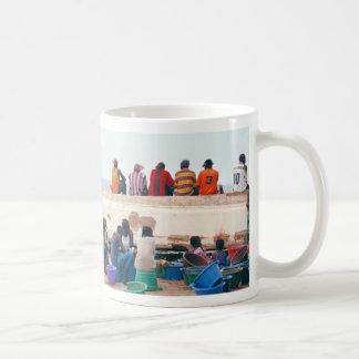 Beach Scene with Overturned Boat, Gambia Coffee Mug