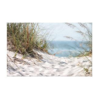 Beach Scene Wrapped Canvas. Canvas Print