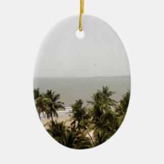 Beach Scenery Ceramic Ornament
