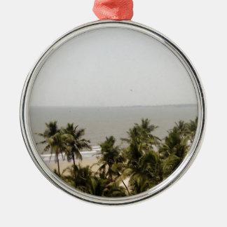 Beach Scenery Metal Ornament