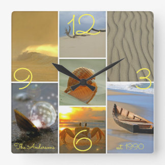 Beach Scenes Family Name Est. Date Wall Clock