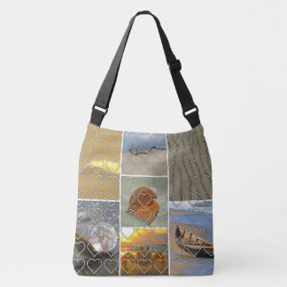 Beach Scenes Heart Pattern Tote