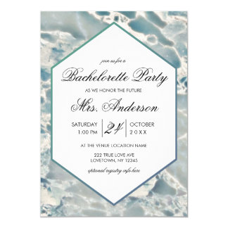 Beach Sea Glass Aqua Bachelorette Party Invitation