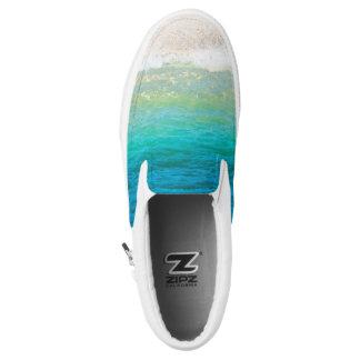 Beach Sea Shore Sand Ocean Slip On Sneakers
