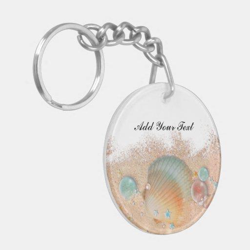 Beach Seashell Customized Keychain - SRF