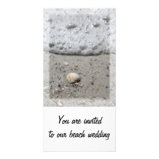 Beach seashell invitation photocard picture card