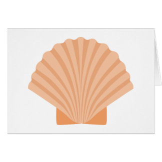 Beach Seashell Orange Nautical - Thank you, Hello, Card