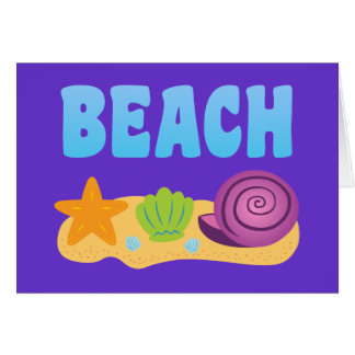 Beach Seashells Card