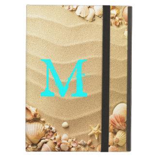 Beach Seashells Hawaii Monogram Initial IPAD Case