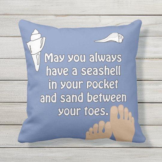 Beach Seashells Sand Toes Pillow