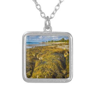 Beach Seaweed Silver Plated Necklace