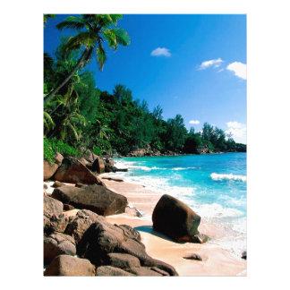 Beach Secret Getaway Customized Letterhead