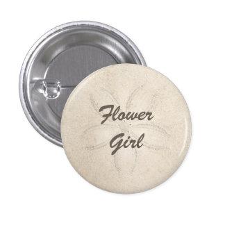 Beach Serenity Flower Girl Button