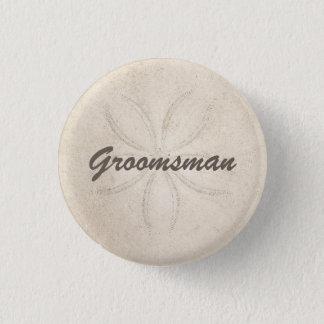 Beach Serenity Groomsman Button