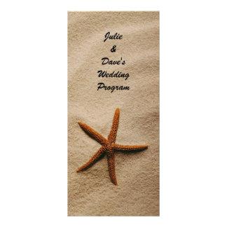 Beach Serenity Wedding Program Card