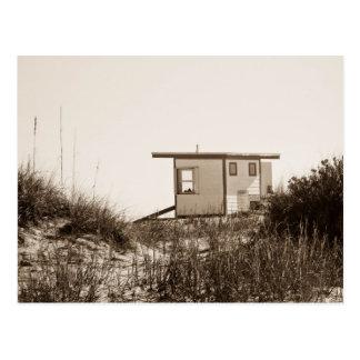 Beach Shack in Sepia Postcard