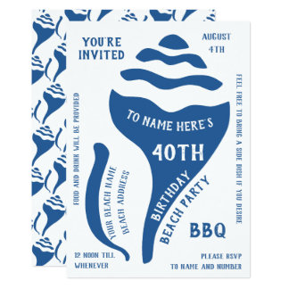 Beach shell birthday card