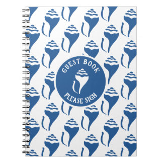 Beach shell birthday notebook