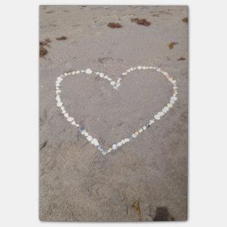 Beach Shell Heart Post-it® Notes