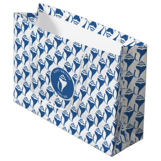 Beach shell pattern large gift bag