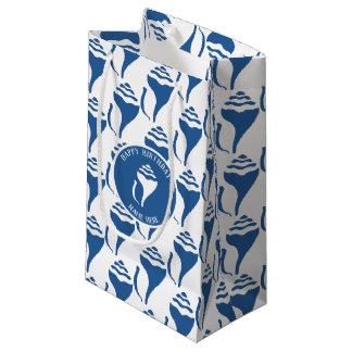 Beach shell pattern small gift bag