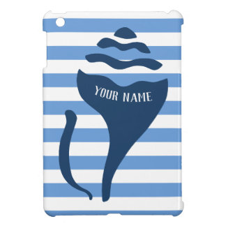Beach shell striped iPad mini cover